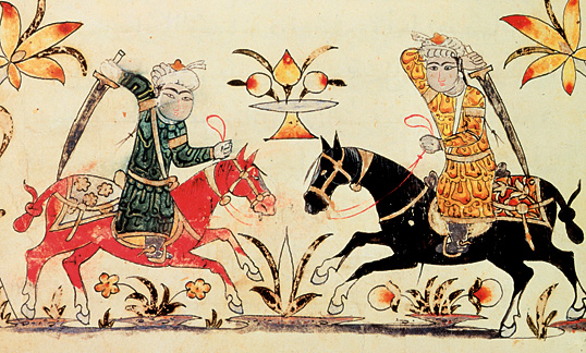 Mamluk Cavalry, from Nihayat al-Sul (A Manual of Horsmanship and Military Practice)